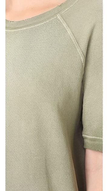 THE GREAT. Short Sleeve Sweatshirt