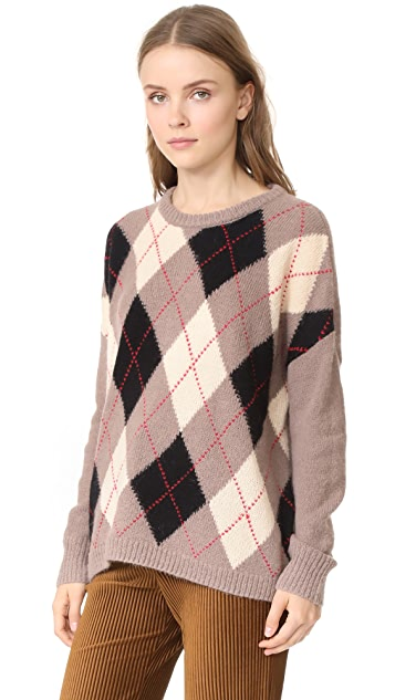 THE GREAT. The Argyle Crew Sweater