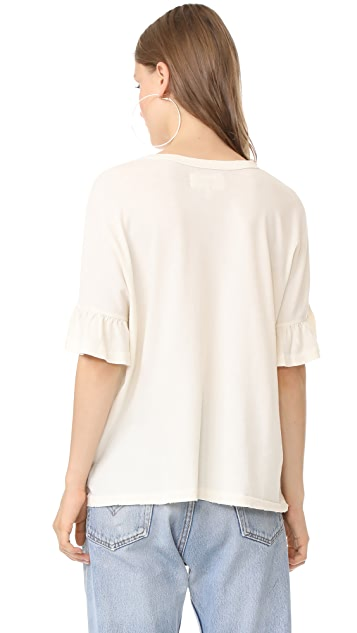 THE GREAT. The Ruffle Sleeve Tee