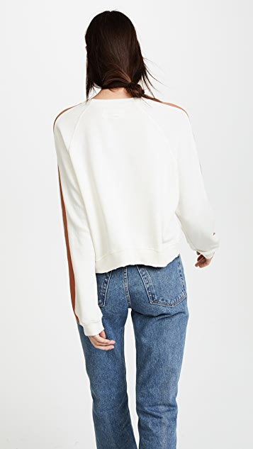 THE GREAT. The Cropped Sweatshirt