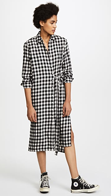 THE GREAT. The Robe Shirt Dress