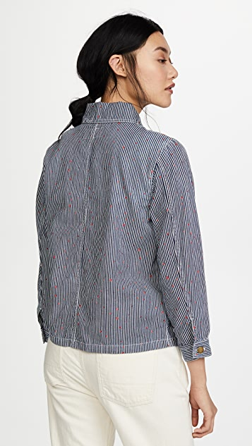 THE GREAT. The Shrunken Barn Jacket