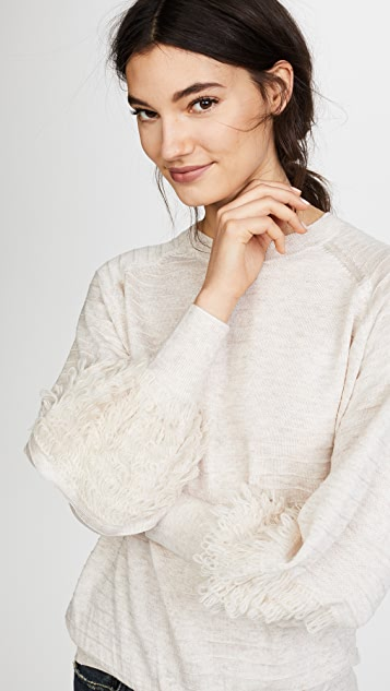 THE GREAT. The Loop Sleeve Sweater