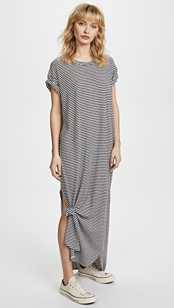 THE GREAT. The Knotted Tee Dress
