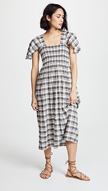 THE GREAT. The Gimlet Dress - Windmill Plaid