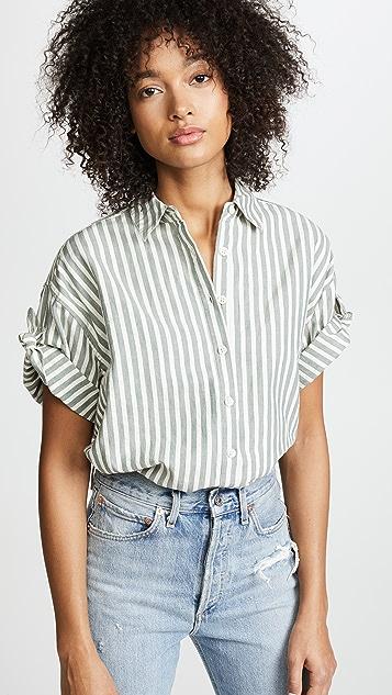 THE GREAT. Рубашка с длинными рукавами с завязками