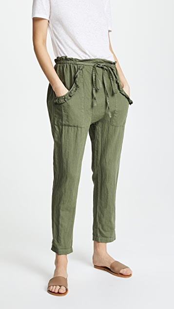 THE GREAT. The Tulip Pants - Army Green