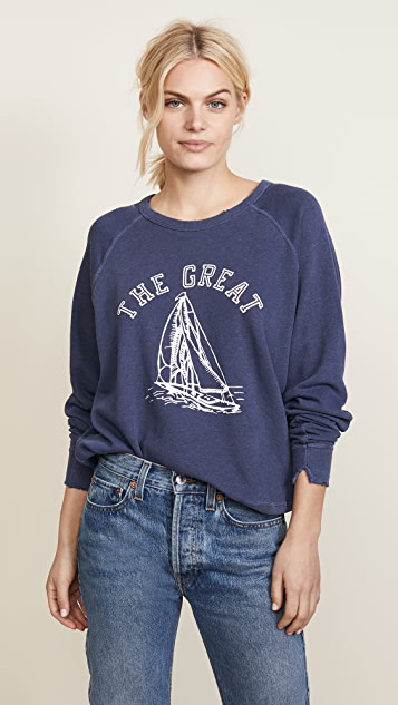 THE GREAT. The College Sweatshirt