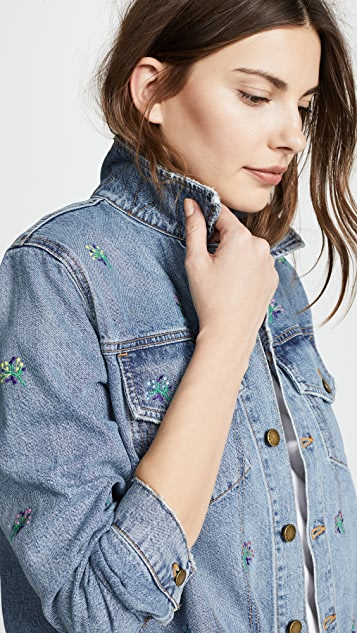 THE GREAT. The Boxy Jean Jacket
