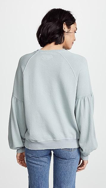 THE GREAT. The Bishop Sleeve Sweatshirt