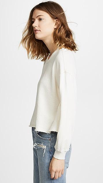 THE GREAT. The Cutoff Sweatshirt