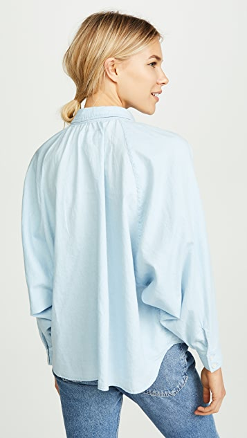 THE GREAT. The Estate Button Down Blouse