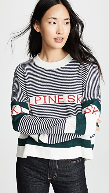 THE GREAT. The Alpine Ski Sweater