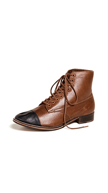 THE GREAT. The Cap Toe Boxcar Boots