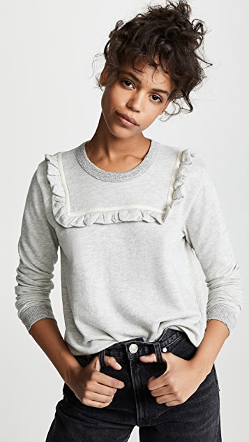 THE GREAT. The Shrunken Bib Sweatshirt