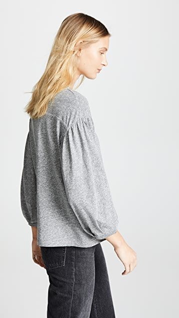 THE GREAT. The Curve Long Sleeve Tee