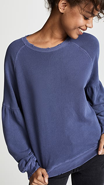 THE GREAT. The Bishop Sleeve Sweatshirt