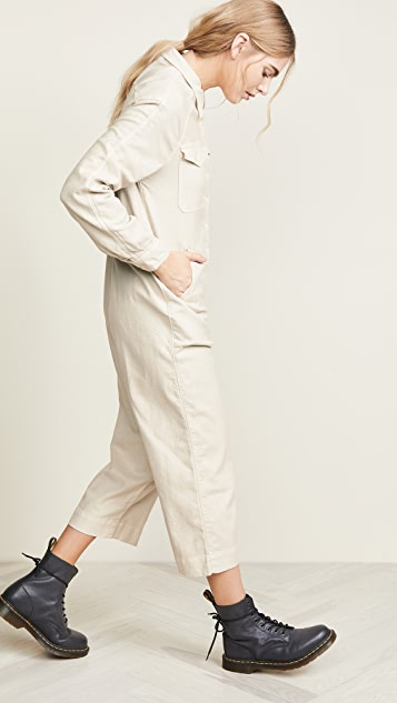 THE GREAT. The Cropped Boiler Jumpsuit