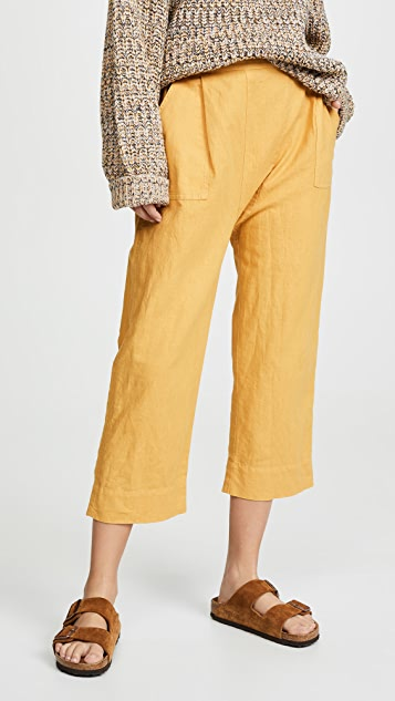 THE GREAT. The Wide Leg Harem Pants - Goldenrod