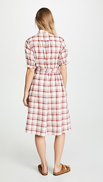 THE GREAT. The Scallop Kerchief Dress