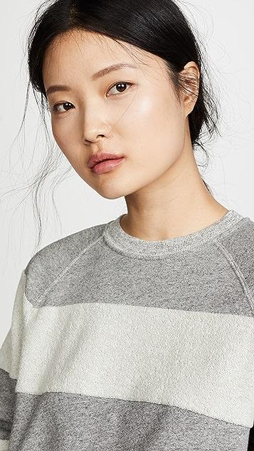 THE GREAT. The Reverse Stripe Slouch Sweatshirt