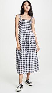 THE GREAT. The Scallop Clover Dress