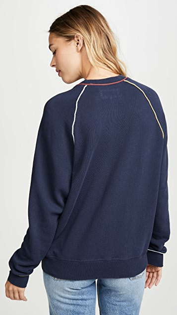 THE GREAT. The College Sweatshirt with Multi Piping