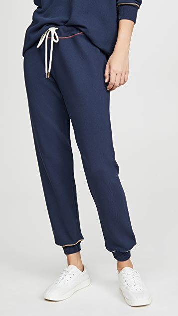 THE GREAT. The Cropped Sweatpants With Multi Piping