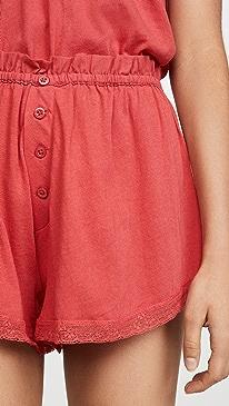 Sleep Lace Tap Shorts
