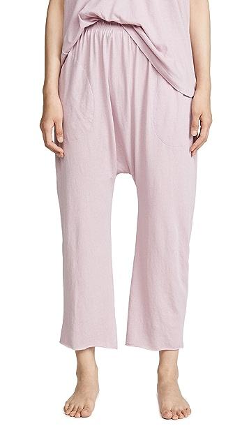 THE GREAT. Укороченные пижамные домашние брюки для сна