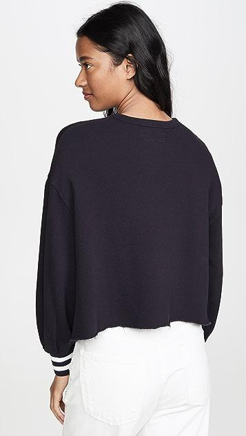 THE GREAT. Cutoff Sweatshirt