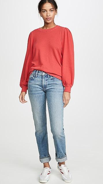 THE GREAT. The Pleat Sleeve Sweatshirt