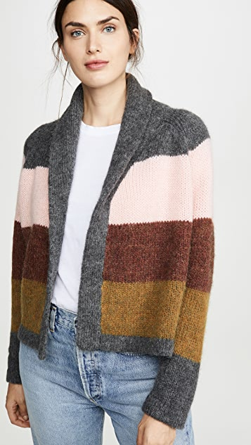 THE GREAT. Striped Lodge Cardigan