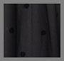черный флокированный рисунок в горошек