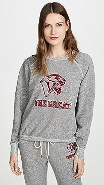 The College Sweatshirt with Jaguar Graphic