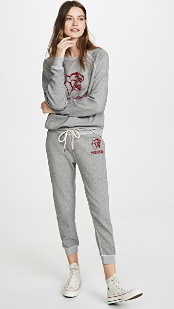 THE GREAT. The College Sweatshirt with Jaguar Graphic