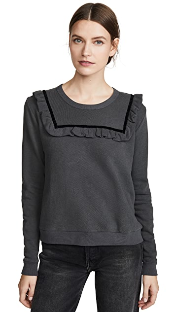 THE GREAT. The Velvet Bib Sweatshirt