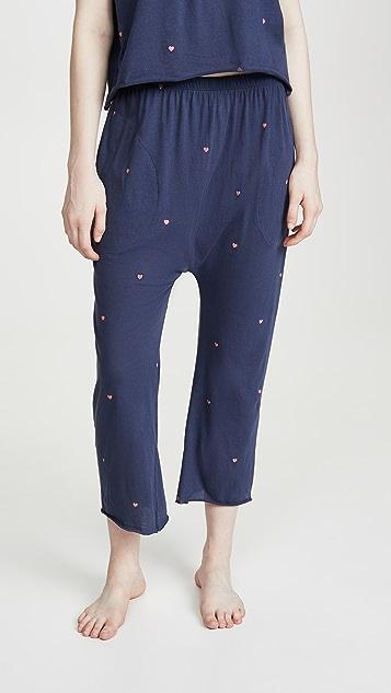 THE GREAT. Укороченные пижамные брюки Lounge