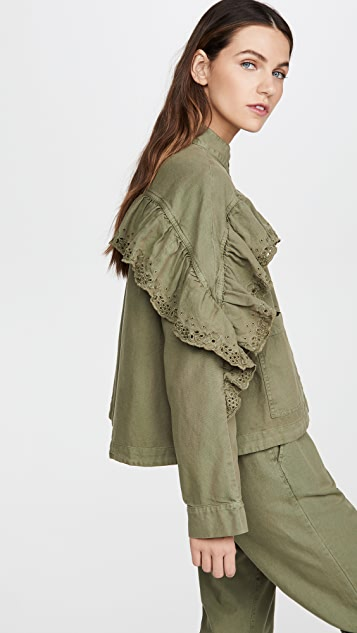 THE GREAT. The Eyelet Army Jacket