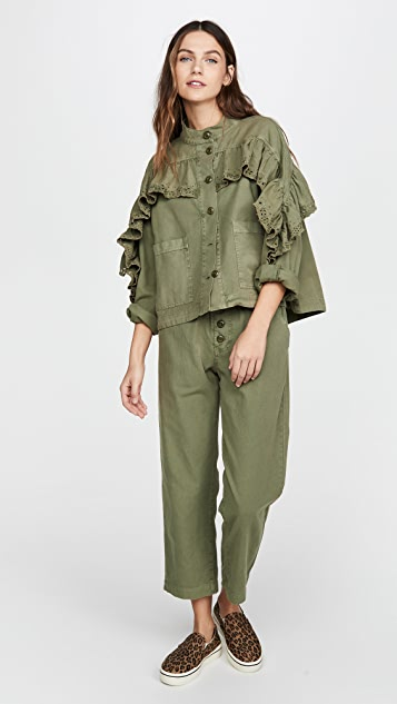 THE GREAT. The Eyelet Gunny Sack Trousers