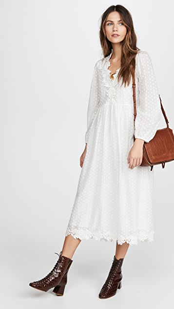 THE GREAT. The Lace Prim Dress