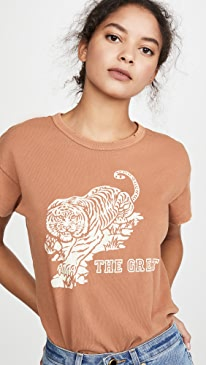 The Boxy Crew Tee With Tiger Graphic