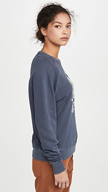 THE GREAT. The College Sweatshirt With Tiger Graphic
