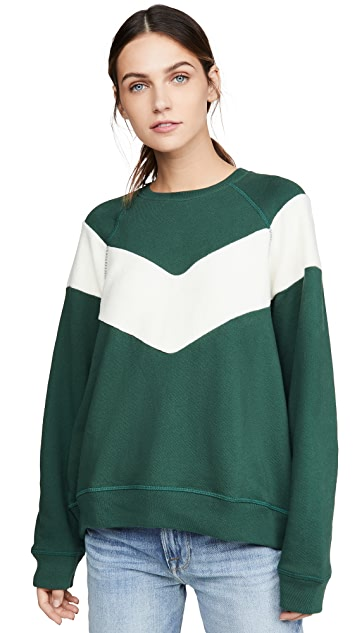 THE GREAT. The Sherpa Chevron Sweatshirt