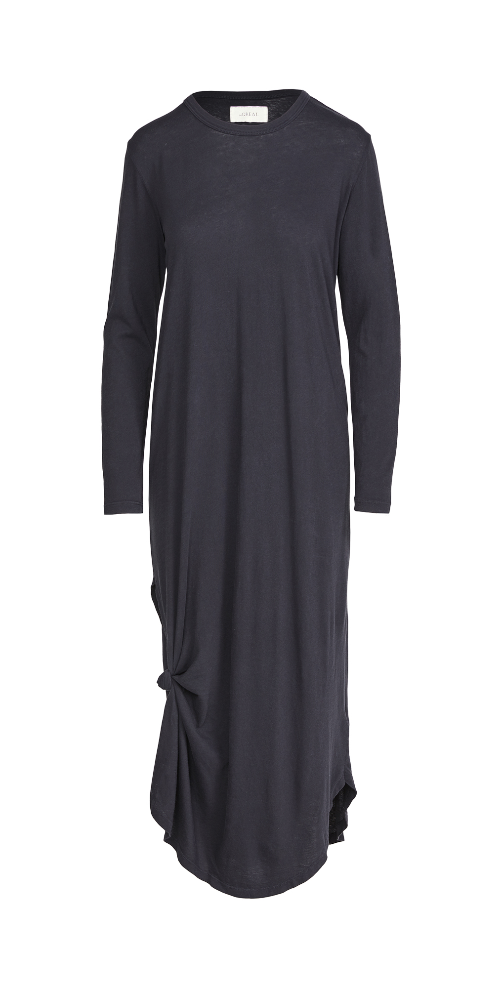 THE GREAT. Long Sleeve Side Knot Dress