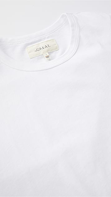 THE GREAT. The Crop Tee