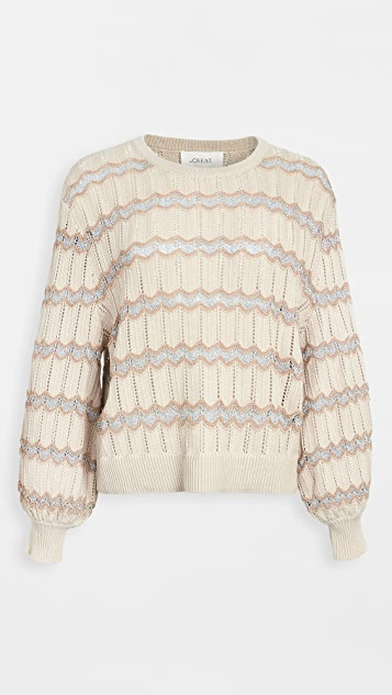 THE GREAT. The Zigzag Stripe Sweater