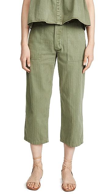 THE GREAT. The Herringbone Trooper Pants