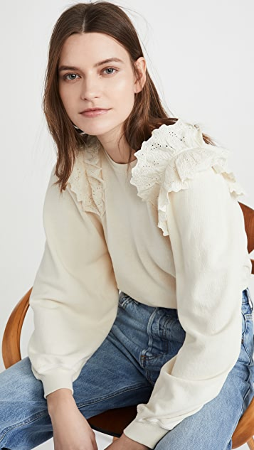 THE GREAT. The Eyelet Sweatshirt