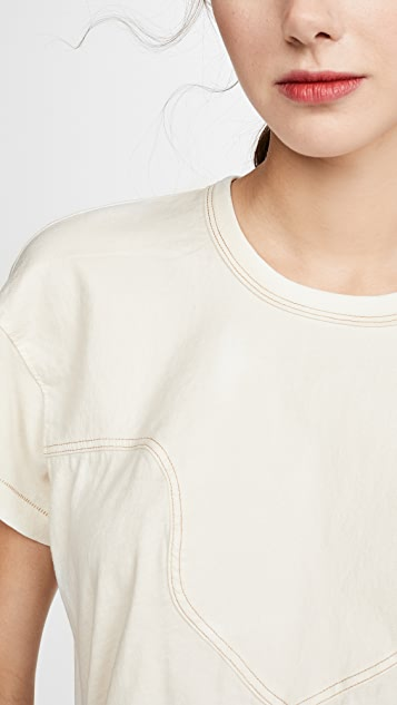 THE GREAT. The Western Boxy Crew Tee